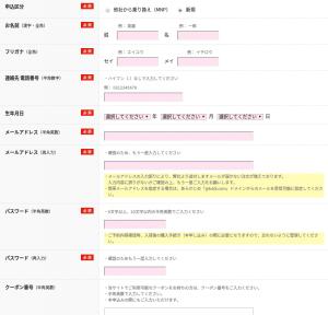 ご契約者様情報の入力   au Online Shop(エーユー オンライン ショップ)