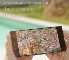 Smartphones xperia z5 4k