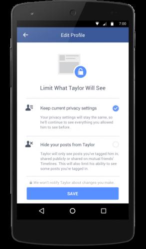 Facebook whta former partner will see