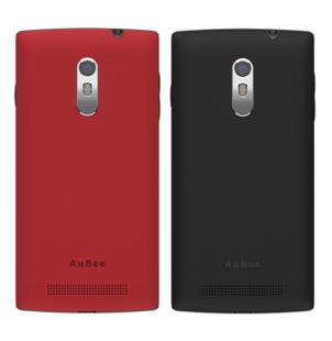 SIMフリースマホ AuBee smartphone 「elm.」 (バックパネル2枚付き:レッド ブラック)   OCNモバイルONE音声通話対応SIMパッケージセット    NTTコムストア   goo SimSeller