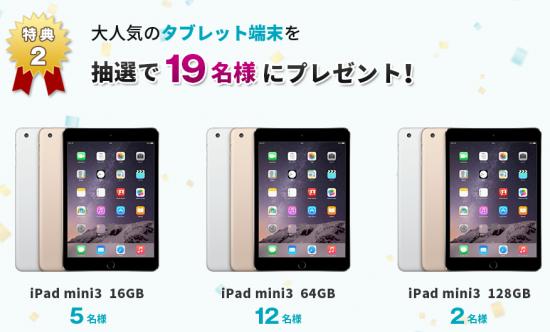 U NEXT 一部上場記念キャンペーン|格安スマホ・SIMカードのU mobile(ユーモバイル)ipad mini3