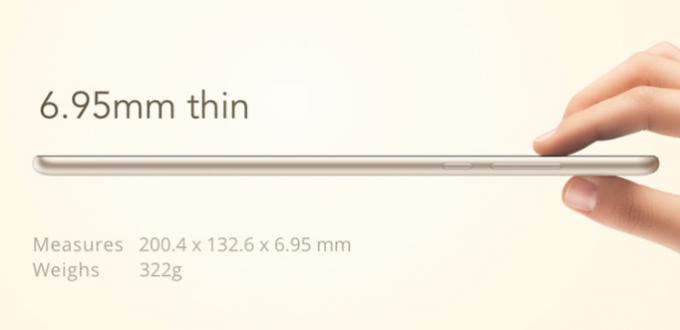 XiaoMi Mi Pad 2 64GB size