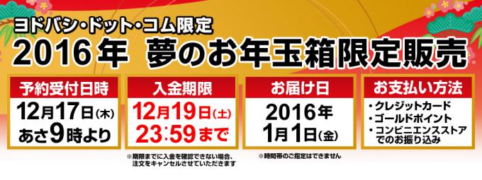 ヨドバシ.com   2016年 福袋