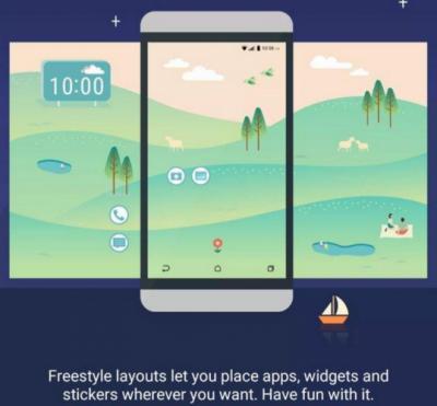 HTC sense 8 UI