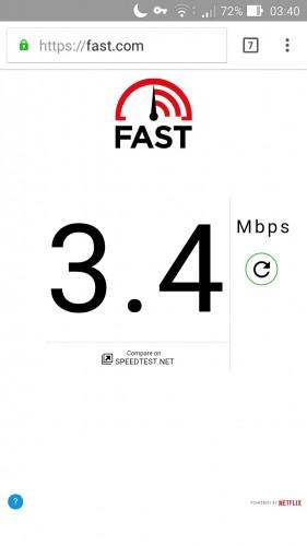 fast com smartphone