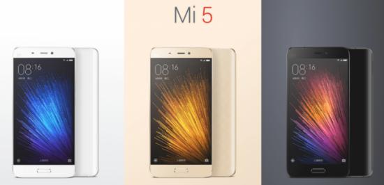 Xiaomi mi 5 color