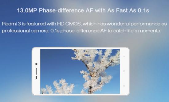 Xiaomi redmi 3 pro camera