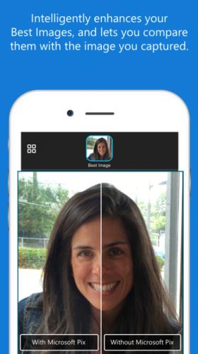 microsoft pix enhance face brightness