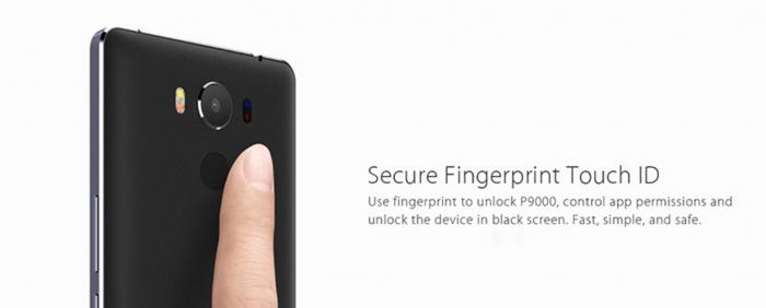 elephone p9000 fingerprint sensor