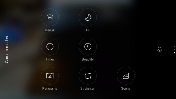 Xiaomi redmi 3 camera mode