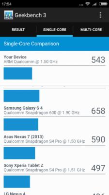 redmi 3 geekbench 3 single core