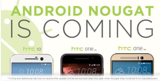 htc andtoid 7.0 nougat update twitter