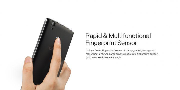 doogee x5 max pro fingerprint sensor