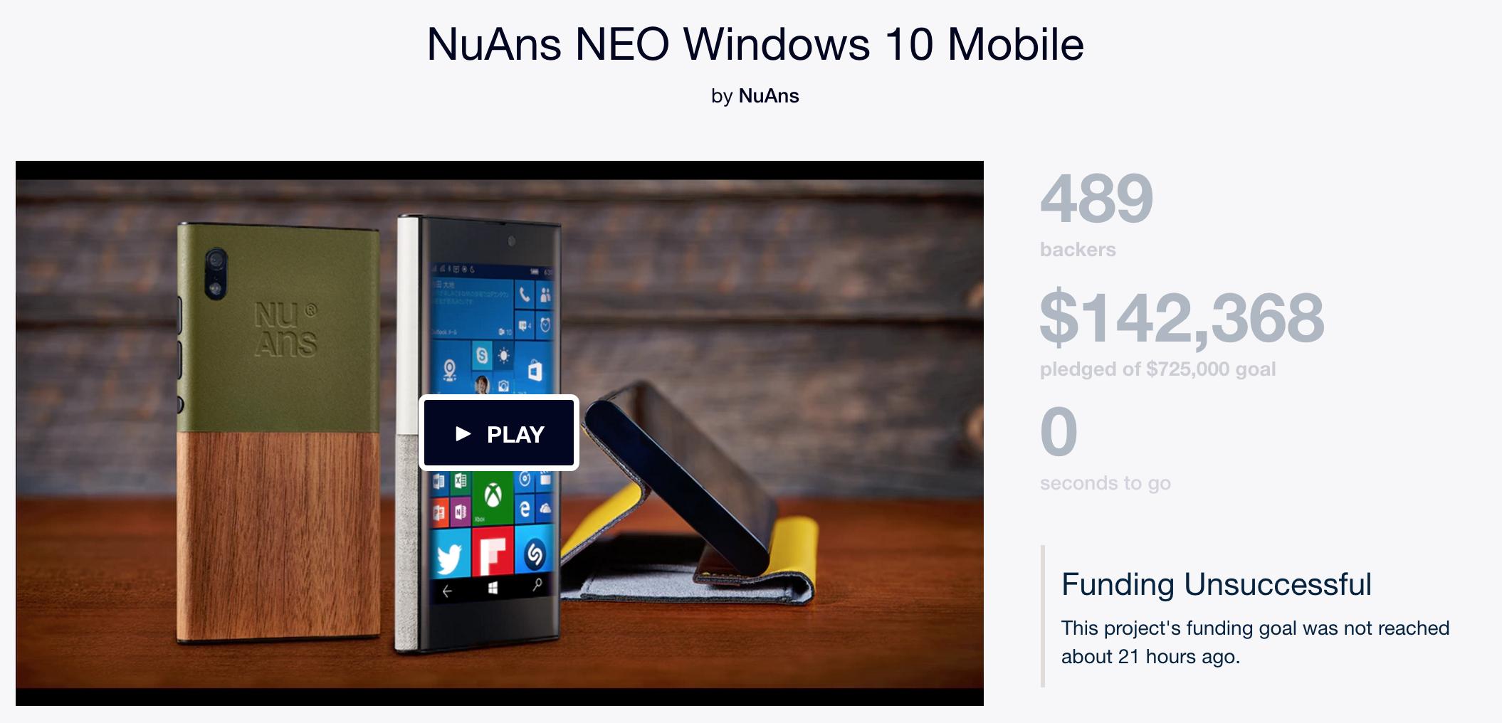 nuans neo kickstarter