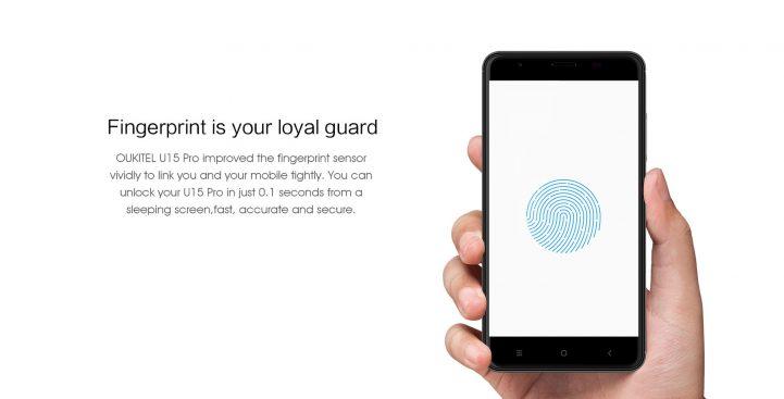Oukitel U15 Pro fingerprint sensor